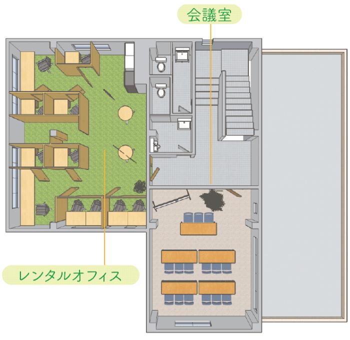 3F / オフィスエリアのマップ