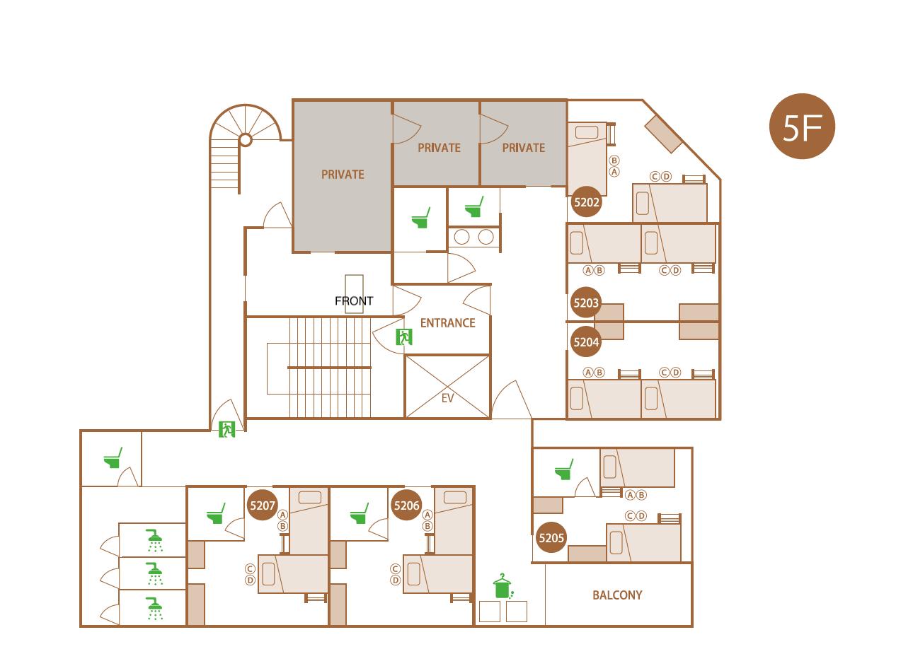 働Co-livingのマップ